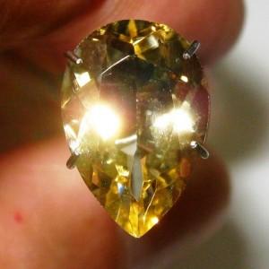 Pear Shape Yellow Citrine 2.65 carat