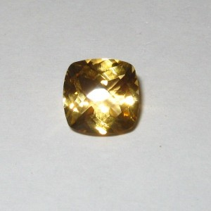 Cushion Buff Top Yellow Citrine 2.17 carat