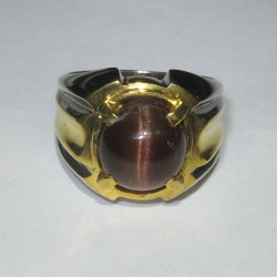 Spectrolite Cat Eye Silver Ring 8.5US