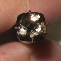 Smoky Quartz Cushion Facet 1.27 carat