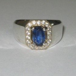 Cincin Safir Ceylon Ring 8US