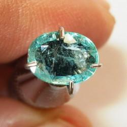 Oval Zambia Emerald 0.60 carat