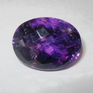 Oval Buff Top Purple Amethyst 16.24 carat
