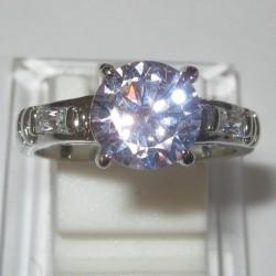 Cincin Gold Filled Pink Sapphire CZ 7.5 US