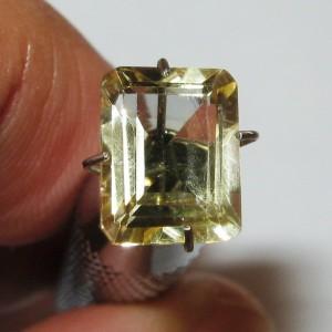 Light Yellow Citrine Rectangular 1.96 carat