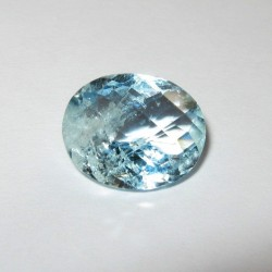 Light Blue Aquamarine Oval 3.87 carat