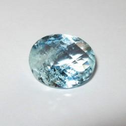 Light Blue Aquamarine Oval 3.87 carat