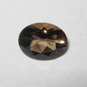 Batu Permata Smoky Quartz Oval 1.50 carat