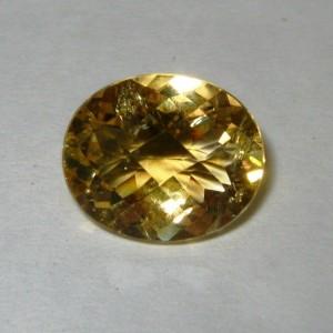 Oval Chekboard Yellow Citrine 4.09 carat