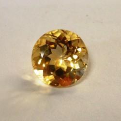 Citrine Kuning Round 9mm 2.95 carat