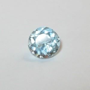 Batu Permata Blue Aquamarine 0.78 carat Round Cut