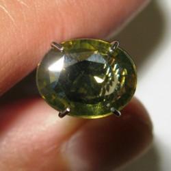 Orangy Green Zircon 2.49 carat