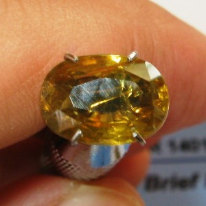 Yellowish Orange Zircon Oval 3.54 carat