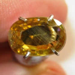 Yellowish Orange Zircon Oval 2.32 carat