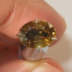 Oval Brownish Orange Zircon 2.15 carat