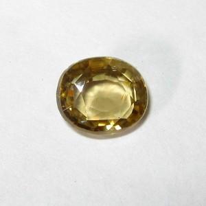 Zircon Kuning Oval 1.85 carat