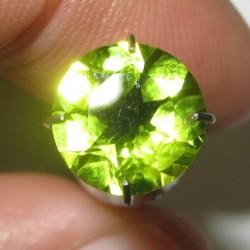 8mm Round Peridot 1.83 carat
