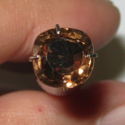 Brownish Orange Zircon Cushion 2.17 carat