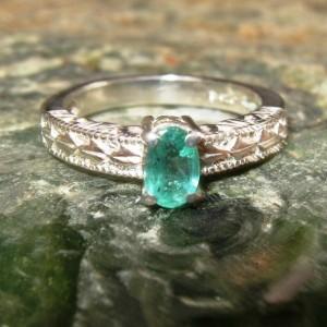 Cincin Zamrud Silver 925 Untuk Wanita Ring 7.5US