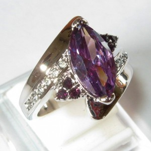 Marquise Amethyst Style (CZ) Ring 8US