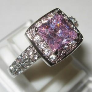 Fashion Pink Gold Filled Ring 6US