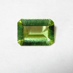 Peridot Rectangular Bersih 0.80 carat