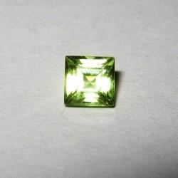 Grosir Permata Peridot 4mm IF Square Cut