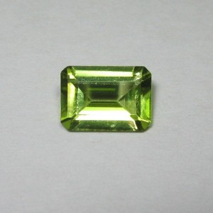 Rectangular Peridot Natural 0.82 carat