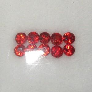 Orangy Red Sapphire Round 2.7mm