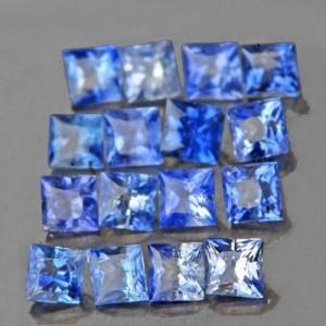 Blue Sapphire Square 2mm per 6 pcs