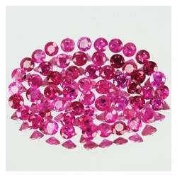 Reddish Pink Ruby Round 1.2mm lot 5 pcs