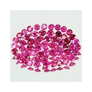 Reddish Pink Ruby Round 1.2mm lot 10 pcs