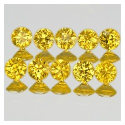 Safir Kuning 1.2mm Round 10 pcs