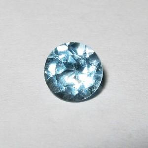 Batu Permata Sky Blue Topaz Round 5mm 1.20 carat