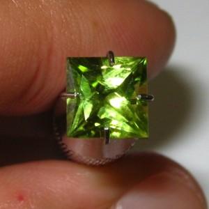 Peridot Square 6mm 1.25 carat