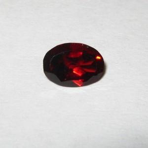 Batu Permata Natural Red Garnet 0.80 carat Oval Cut