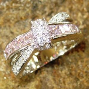 Cincin Wanita Pink Gold Filled Ring 6US