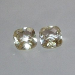 Lemon Quartz Pasangan Cushion Cut