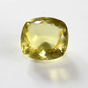 Natural Lemon Quartz 41 carat Cushion Shape Mixed Cut