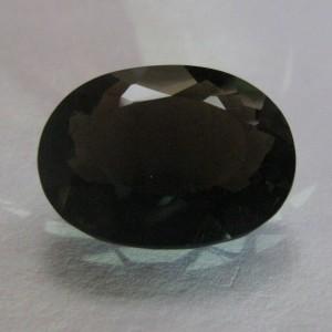 Batu Permata Natural Smoky Quartz 23.44 carat Oval