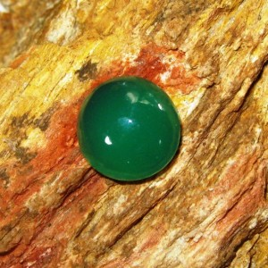 Batu Chyrosprase Hijau 1.68 carat Round Cabochon
