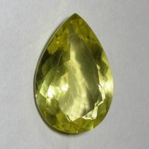 Natural Lemon Quartz 8.32 carat Pear Shape (bentuk kelopak daun)