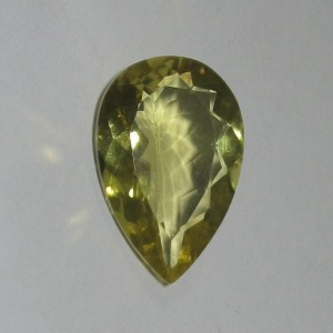 Batu Permata Lemon Quartz 7.2 carat Pear Shape