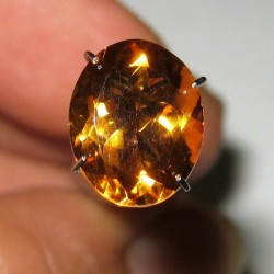 Oval Citrine Orange 3.23 carat