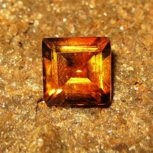 Orange Citrine Rectangular 1.30 carat