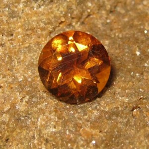 Batu Permata Natural Citrine Orange Round 2.17 carat