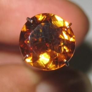 Natural Citrine Orange Round 2.12 carat