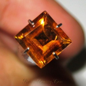Rectangular Orange Citrine 1.59 carat