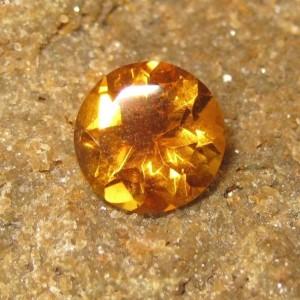 Batu Permata Natural Citrine Round Cut 2.27 carat