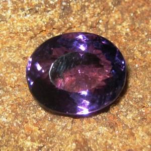 Batu Permata Ntural Purple Amethyst 9.70 carat Oval Cut